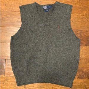 Polo Ralph Lauren 100% lambs wool vest men's L